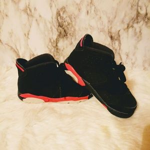 Jordan 6's Red And Black Infrareds sz 8c